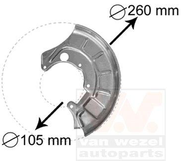 Déflecteur, disque de frein - VAN WEZEL - 5812371