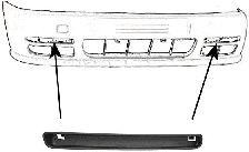Baguette et bande protectrice, pare-chocs - VWA - 88VWA5824581