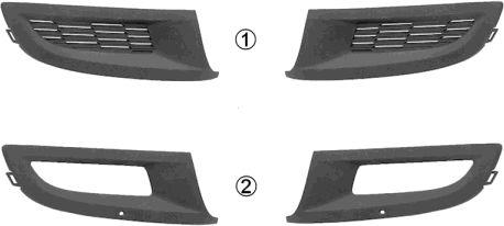 Grille de ventilation, pare-chocs - VWA - 88VWA5829592