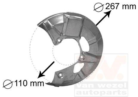 Déflecteur, disque de frein - VAN WEZEL - 5830371