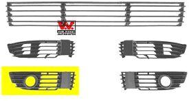 Grille de ventilation, pare-chocs - VAN WEZEL - 5837594