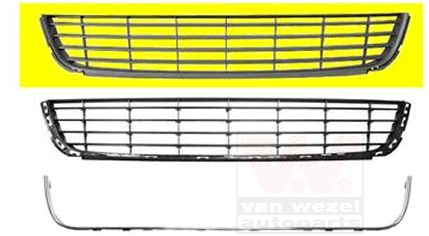 Grille de ventilation, pare-chocs - VAN WEZEL - 5863590