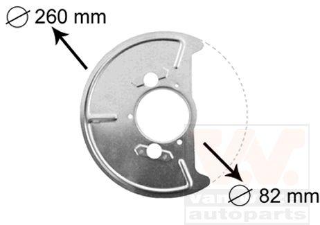 Déflecteur, disque de frein - VAN WEZEL - 5870371