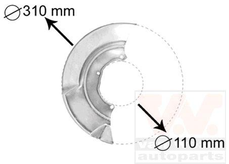 Déflecteur, disque de frein - VAN WEZEL - 5874372