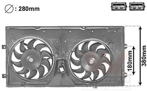 Ventilateur, refroidissement du moteur - VAN WEZEL - 5874748