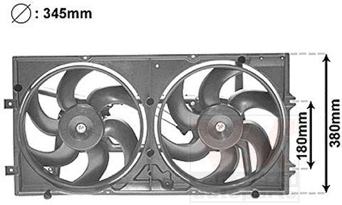 Ventilateur, refroidissement du moteur - VAN WEZEL - 5874749