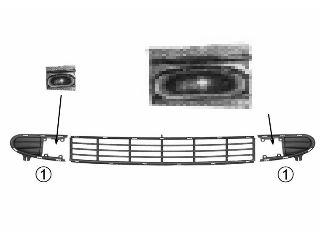 Grille de ventilation, pare-chocs - VAN WEZEL - 5878596
