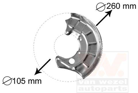 Déflecteur, disque de frein - VWA - 88VWA5880371