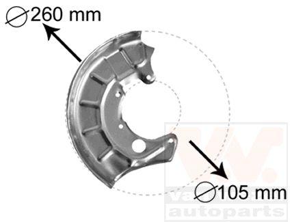 Déflecteur, disque de frein - VWA - 88VWA5880372