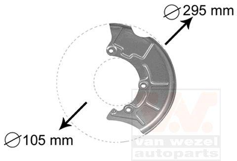Déflecteur, disque de frein - VAN WEZEL - 5888371
