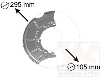 Déflecteur, disque de frein - VAN WEZEL - 5888372