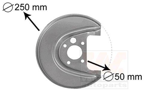 Déflecteur, disque de frein - VAN WEZEL - 5888373