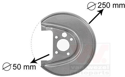 Déflecteur, disque de frein - VWA - 88VWA5888374