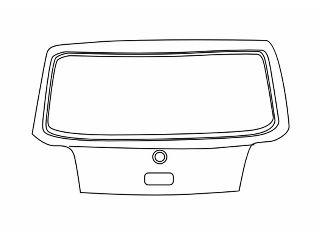Couvercle de coffre à bagages/de compartiment de chargement - VAN WEZEL - 5888600