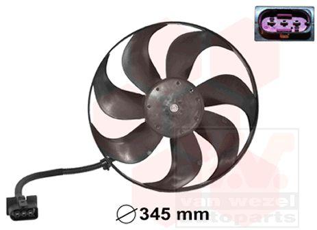 Ventilateur, refroidissement du moteur - VAN WEZEL - 5888744