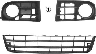 Grille de ventilation, pare-chocs - VAN WEZEL - 5894599