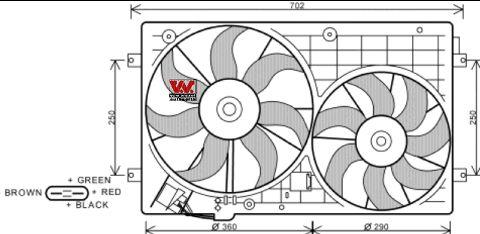 Ventilateur, refroidissement du moteur - VAN WEZEL - 5894748