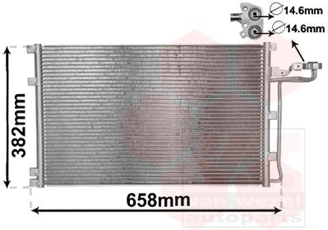 Condenseur, climatisation - VAN WEZEL - 59005139