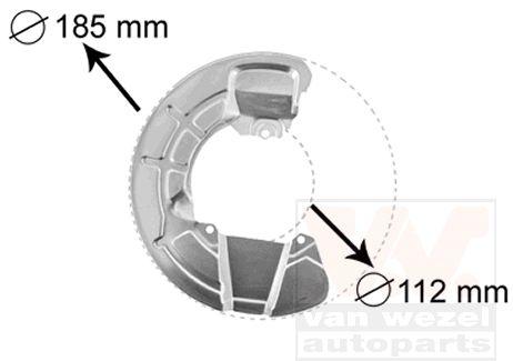 Déflecteur, disque de frein - VAN WEZEL - 5930371