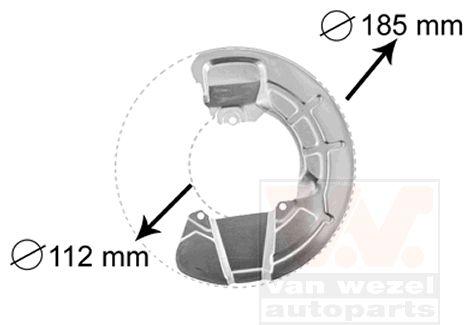Déflecteur, disque de frein - VAN WEZEL - 5930372