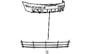 Grille de ventilation, pare-chocs - VAN WEZEL - 7622590