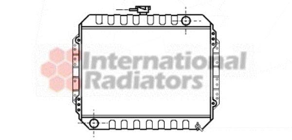 Radiateur, refroidissement du moteur - VAN WEZEL - 36002004