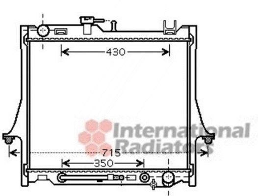 Radiateur, refroidissement du moteur - VAN WEZEL - 36002026