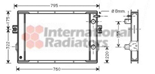 Radiateur, refroidissement du moteur - VAN WEZEL - 28002020