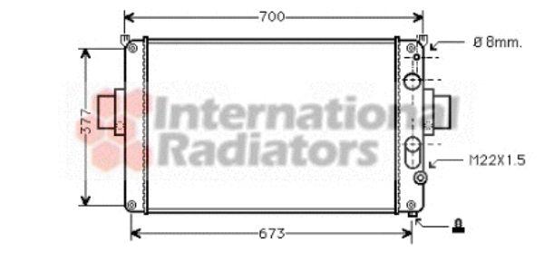 Radiateur, refroidissement du moteur - VAN WEZEL - 28002022