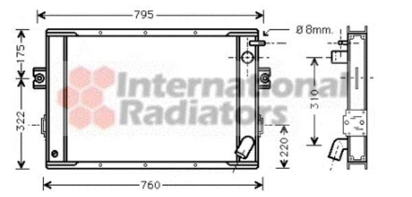 Radiateur, refroidissement du moteur - VAN WEZEL - 28002023