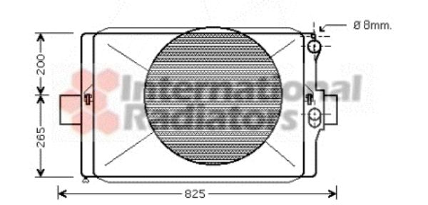 Radiateur, refroidissement du moteur - VAN WEZEL - 28002024