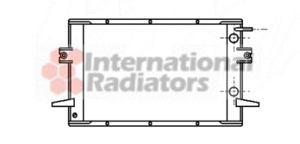 Radiateur, refroidissement du moteur - VAN WEZEL - 28002026