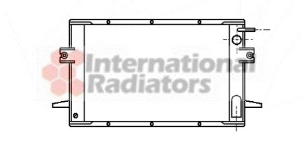 Radiateur, refroidissement du moteur - VAN WEZEL - 28002028