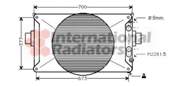 Radiateur, refroidissement du moteur - VAN WEZEL - 28002035