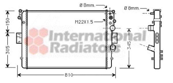Radiateur, refroidissement du moteur - VWA - 88VWA28002041