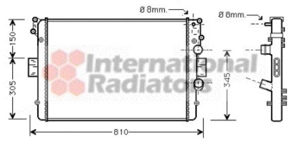 Radiateur, refroidissement du moteur - VAN WEZEL - 28002042