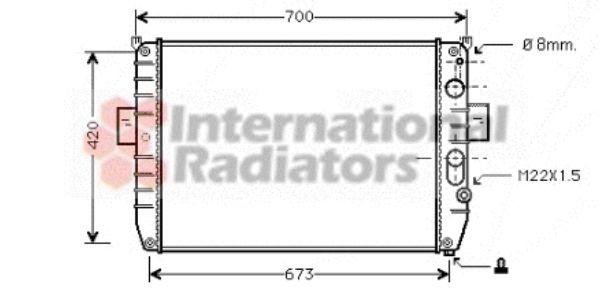 Radiateur, refroidissement du moteur - VWA - 88VWA28002050