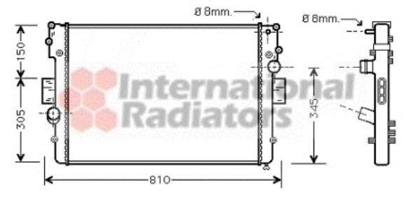 Radiateur, refroidissement du moteur - VAN WEZEL - 28002056