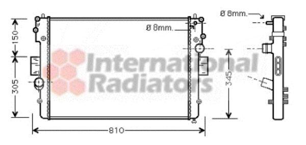 Radiateur, refroidissement du moteur - VAN WEZEL - 28002057