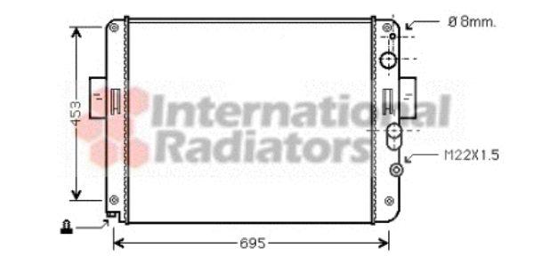 Radiateur, refroidissement du moteur - VAN WEZEL - 28002061