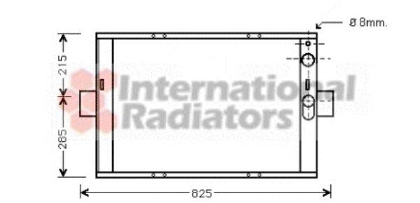 Radiateur, refroidissement du moteur - VAN WEZEL - 28002062