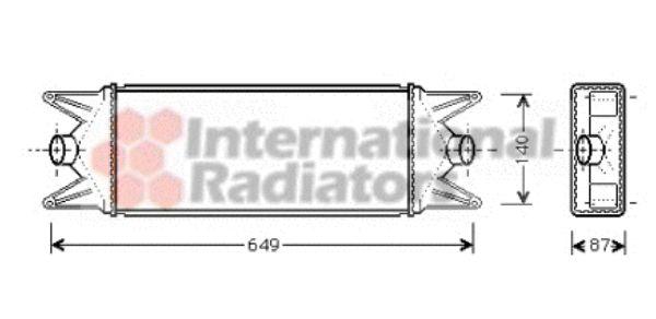 Intercooler, échangeur - VAN WEZEL - 28004045