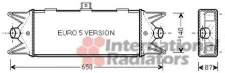 Intercooler, échangeur - VAN WEZEL - 28004099