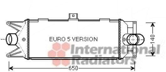 Intercooler, échangeur - VAN WEZEL - 28004100