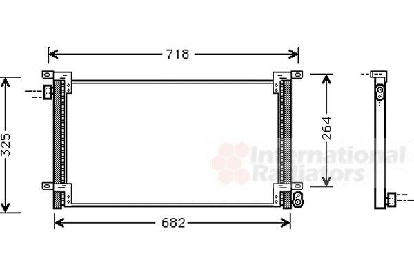 Condenseur, climatisation - VAN WEZEL - 28005044