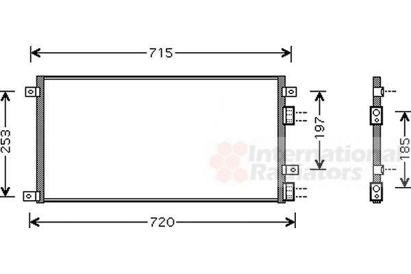 Condenseur, climatisation - VAN WEZEL - 28005058