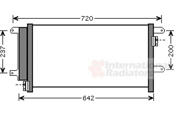 Condenseur, climatisation - VAN WEZEL - 28005089