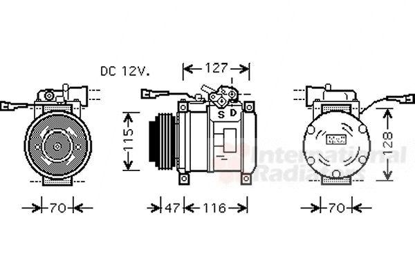 Compresseur, climatisation - VAN WEZEL - 2800K076