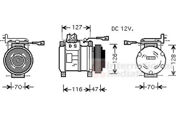 Compresseur, climatisation - VAN WEZEL - 2800K077