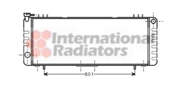 Radiateur, refroidissement du moteur - VAN WEZEL - 21002001